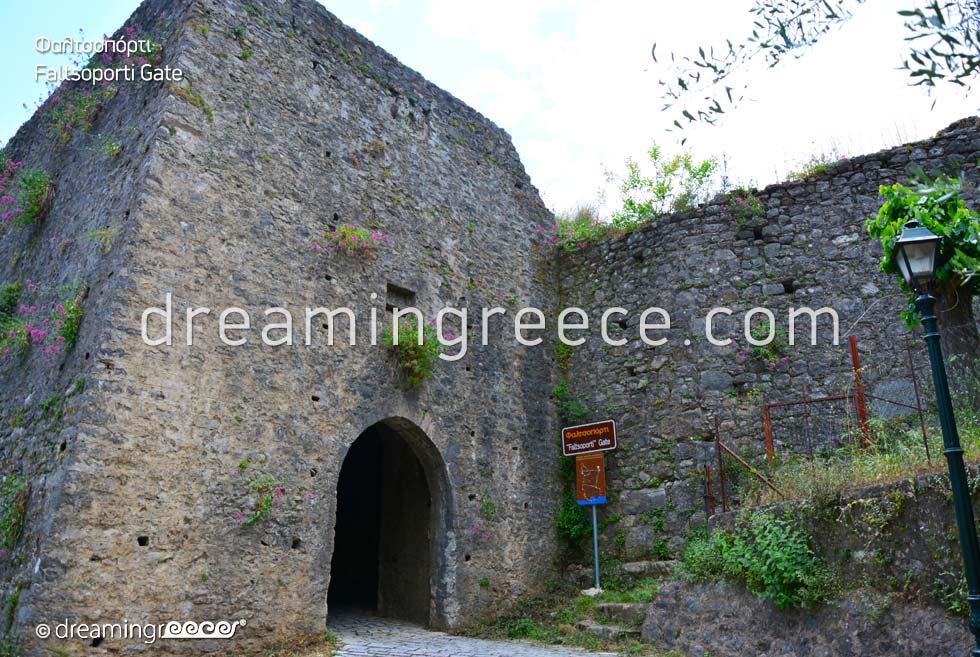 Faltsoporti Gate at Nafpaktos Castle. Travel Guides.