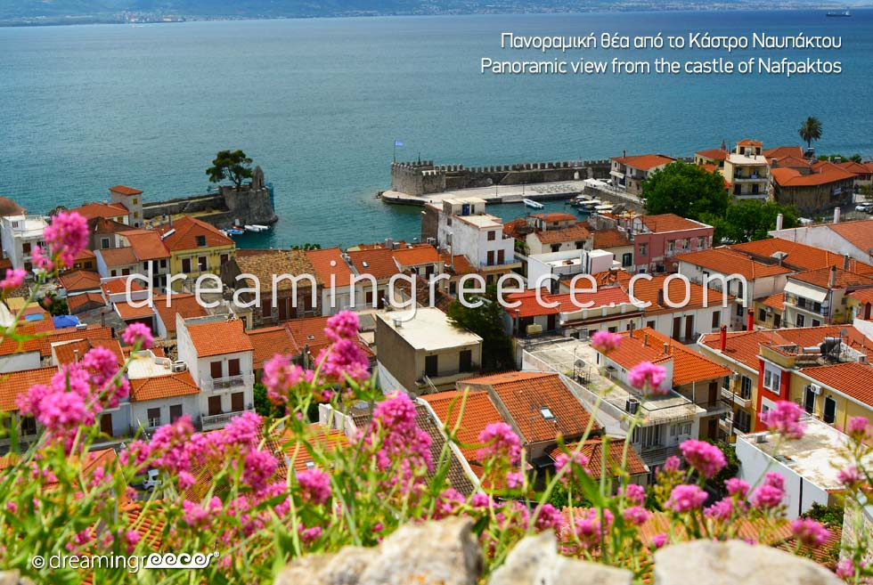 Panoramic view from the castle of Nafpaktos