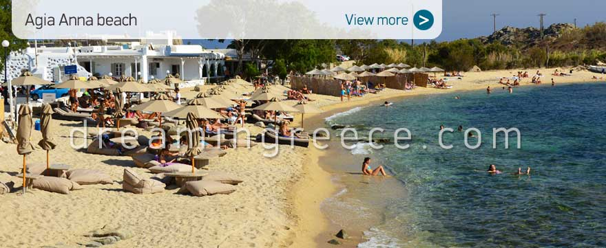 Agia Anna beach Mykonos Beaches Greece