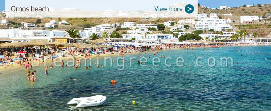 Ornos beach Mykonos Beaches Greece