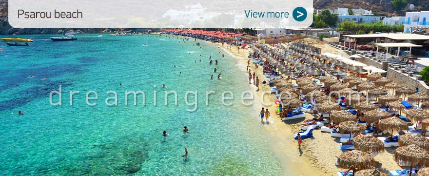 Psarou beach Mykonos Beaches Greece