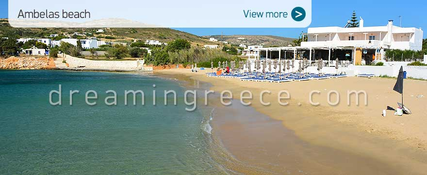 Ambelas beach Paros Beaches Greece. Holidays in Greece.