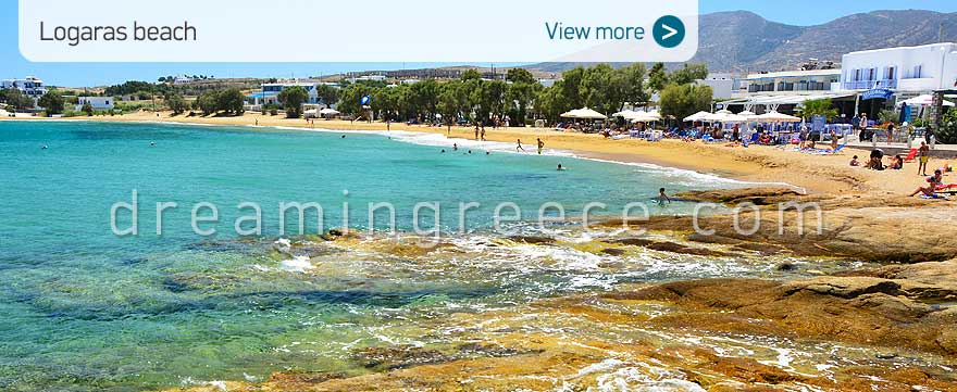Logaras beach Paros Beaches Greece Vacations