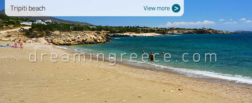 Tripiti beach Paros Beaches Greece. Holidays in the Greek islands.