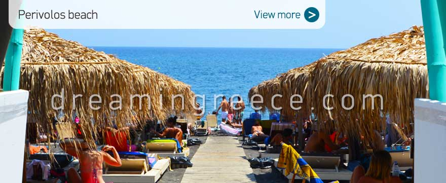 Perivolos beach Santorini Beaches Greece. Vacations Greek islands.