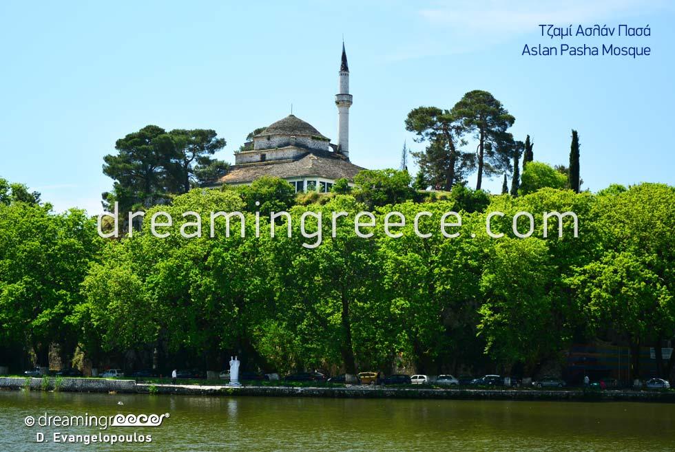 Aslan Pasha Mosque in Ioannina Epirus. Tourist Guide of Greece