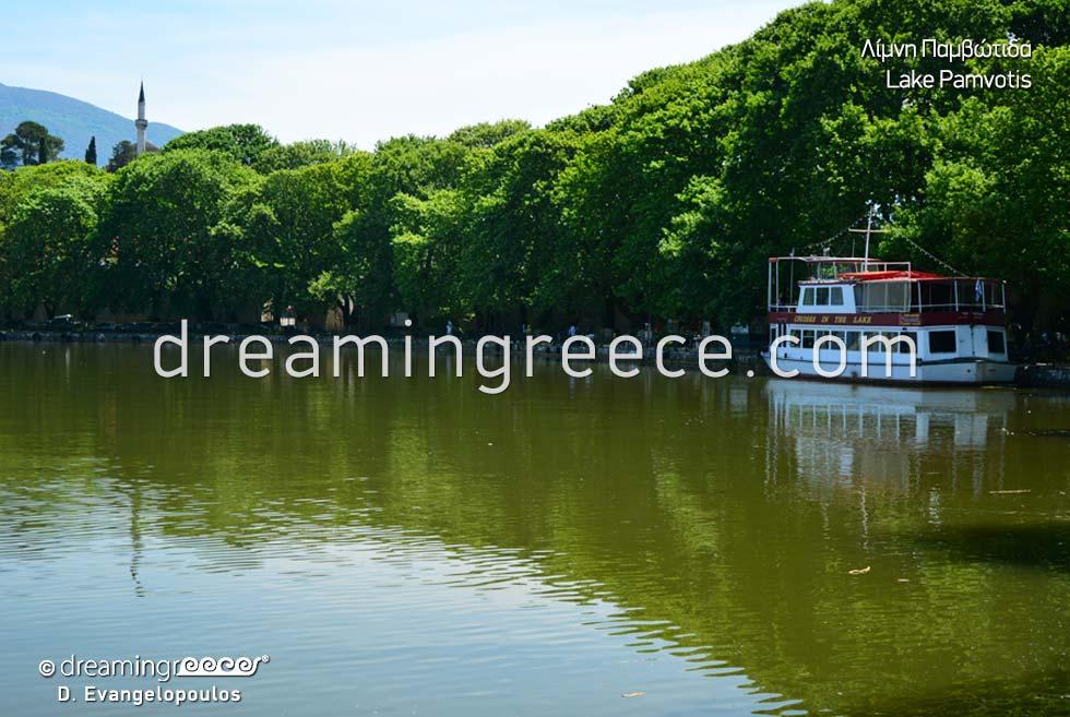 Ioannina Epirus Greece. Pamvotida lake Pamvotis