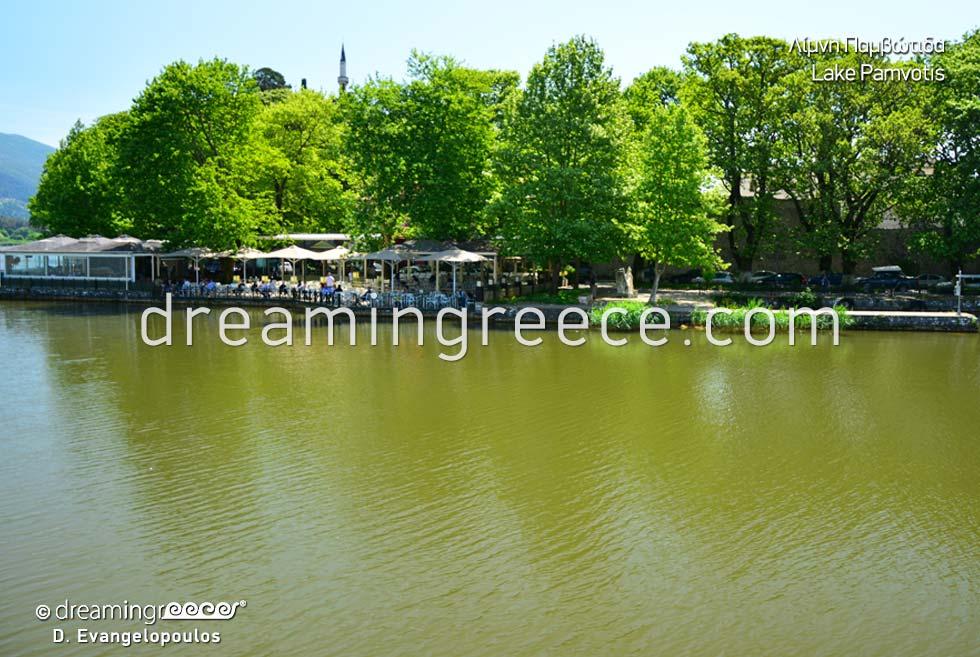 Pamvotida lake Pamvotis. Discover Ioannina Greece.