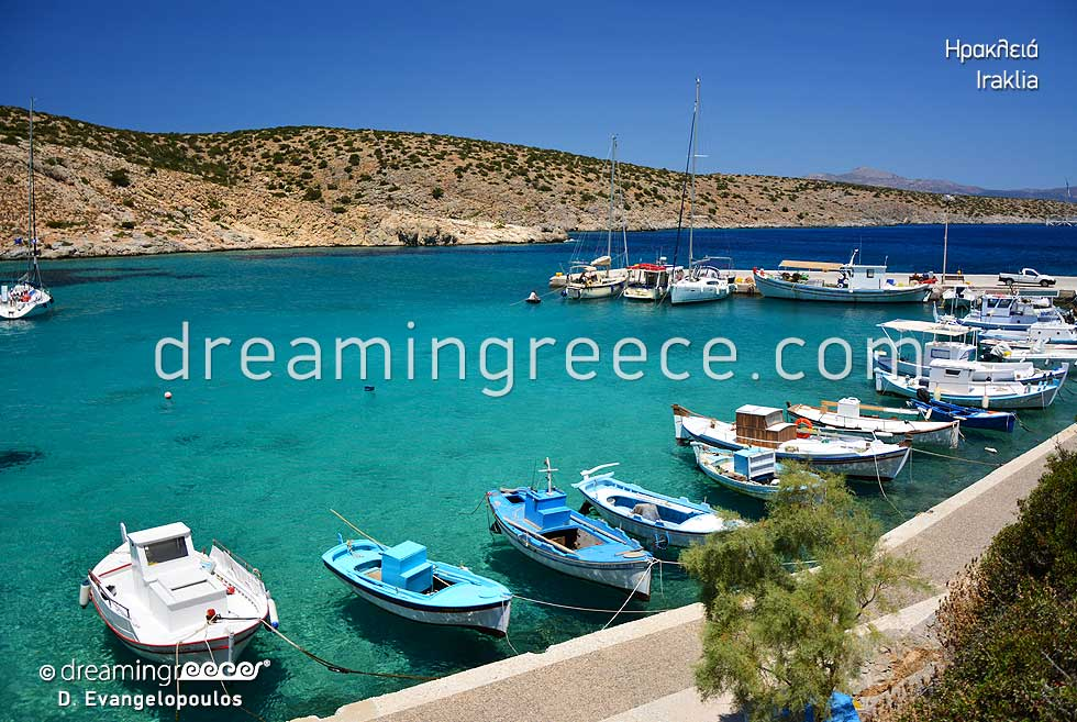 Holidays in Iraklia island Small Cyclades Greece. Greek islands.