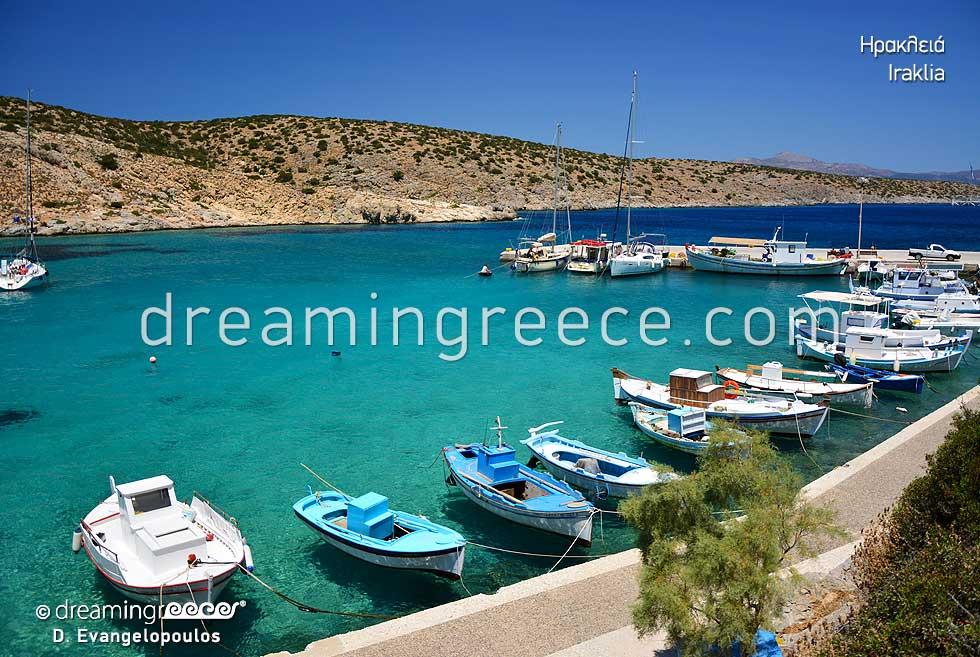 Holidays in Iraklia island Small Cyclades Greece. Greek islands.