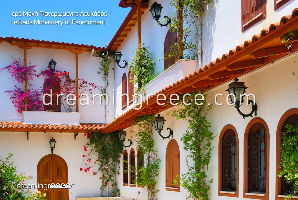 Visit the Monastery of Faneromeni Lefkada island Greece