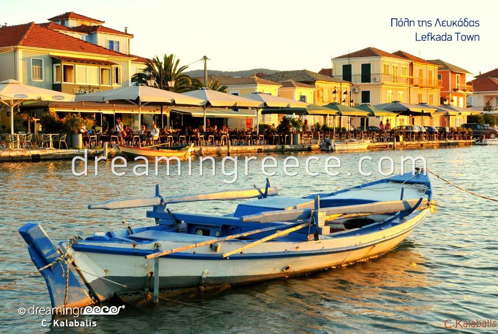 Holidays in Lefkada island town Greece Ionian Islands