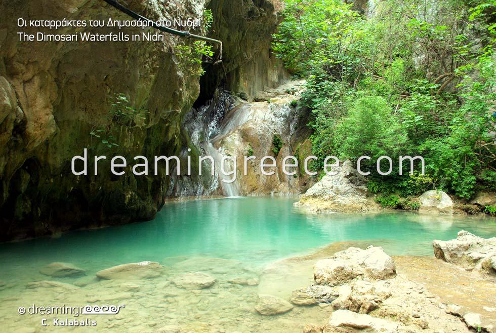 Dimosari Waterfalls in Nidri Lefkada island Greece