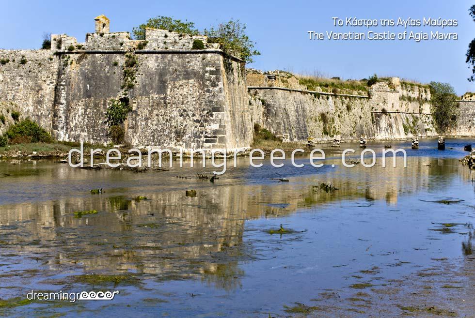 Venetian Castle of Agia Mavra Lefkada island Greece