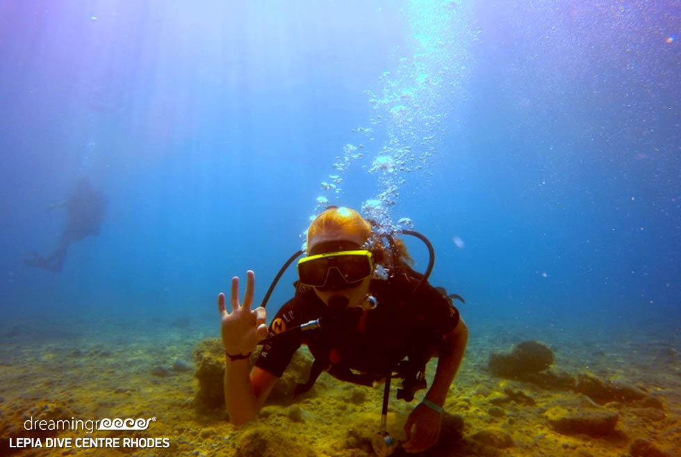 Scuba diving in Greece. Diving Centers in Greece. Lepia Dive center