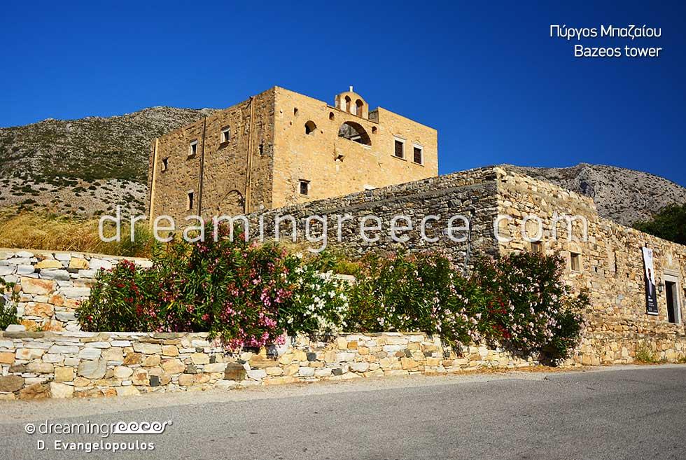 Bazeos tower Naxos. Visit Greece. Naxos island Greece.