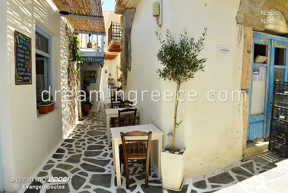 Tourist Guide of Naxos island town Greece. Naxos.
