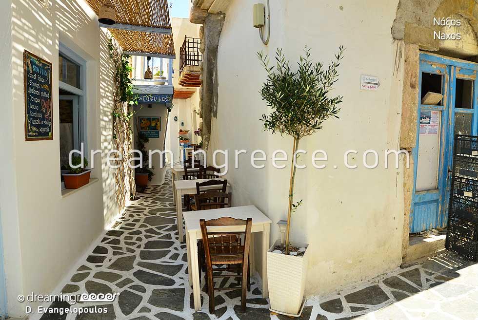 Tourist Guide of Naxos island town Greece. Naxos.
