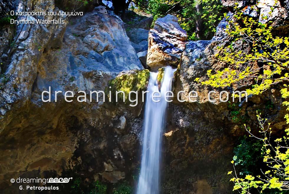 Drymona Waterfalls. North Evia in Greece.