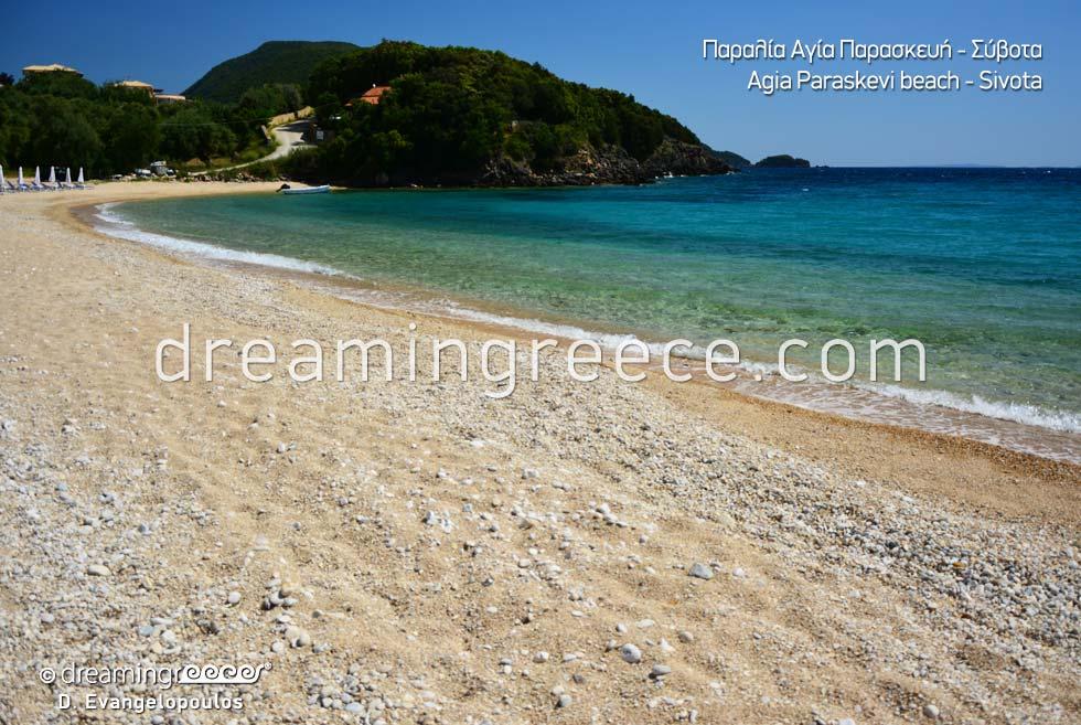 Swimming in Agia Paraskevi beach in Sivota Epirus