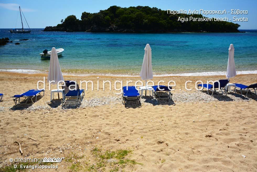 Agia Paraskevi beach in Sivota