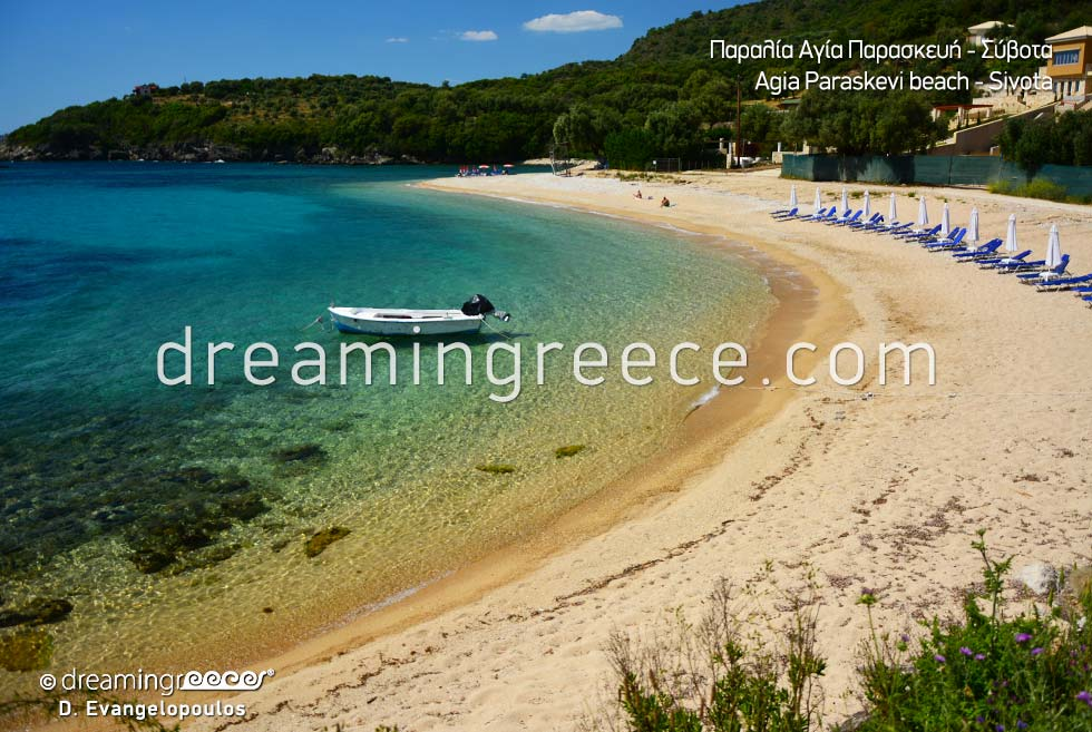 Beautiful Agia Paraskevi beach in Sivota