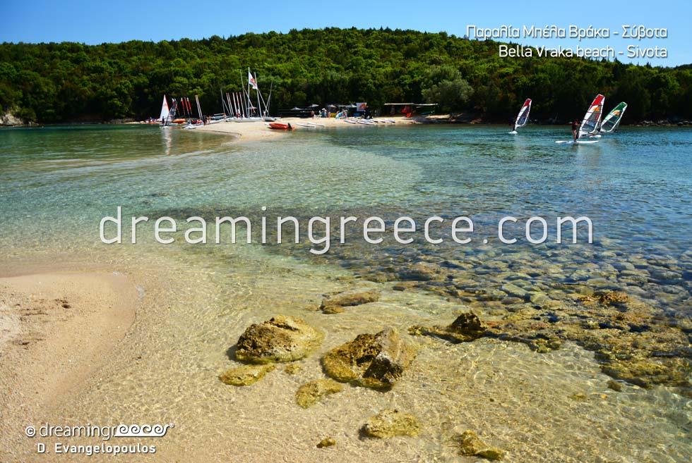 Bella Vraka beach. Beaches Sivota Greece
