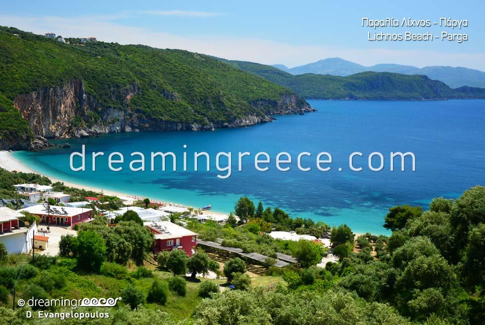 Lichnos beach Crystal clear beaches in greece Sivota Parga Greece
