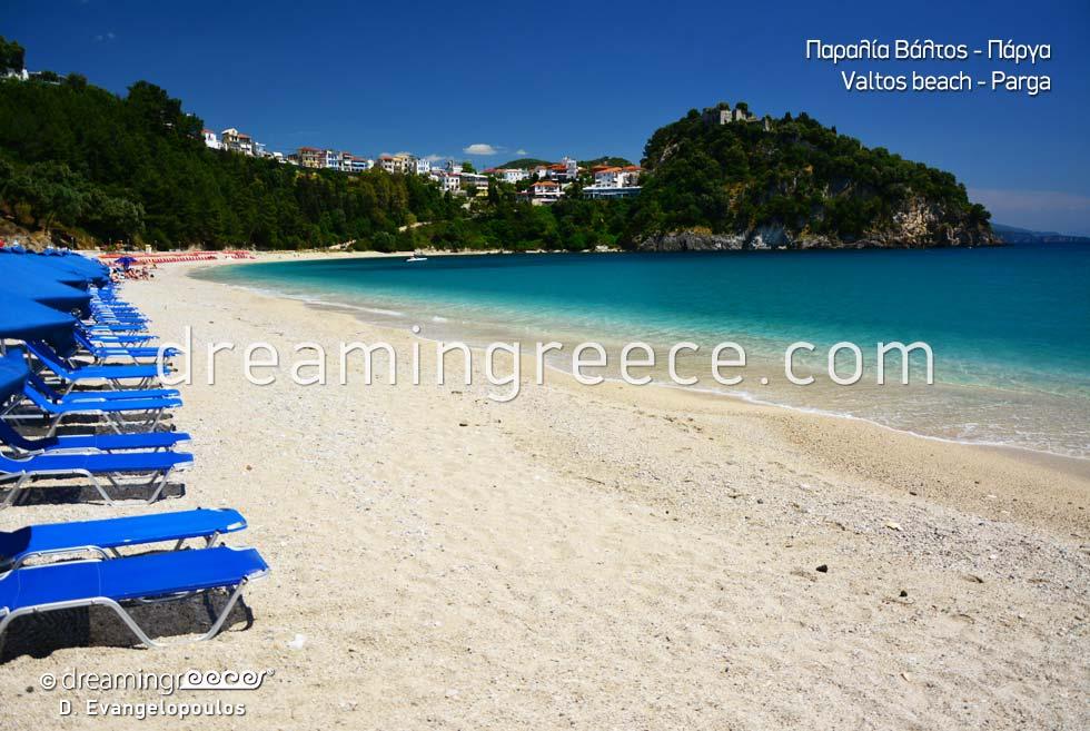 Valtos beach Best beaches in Parga Greece