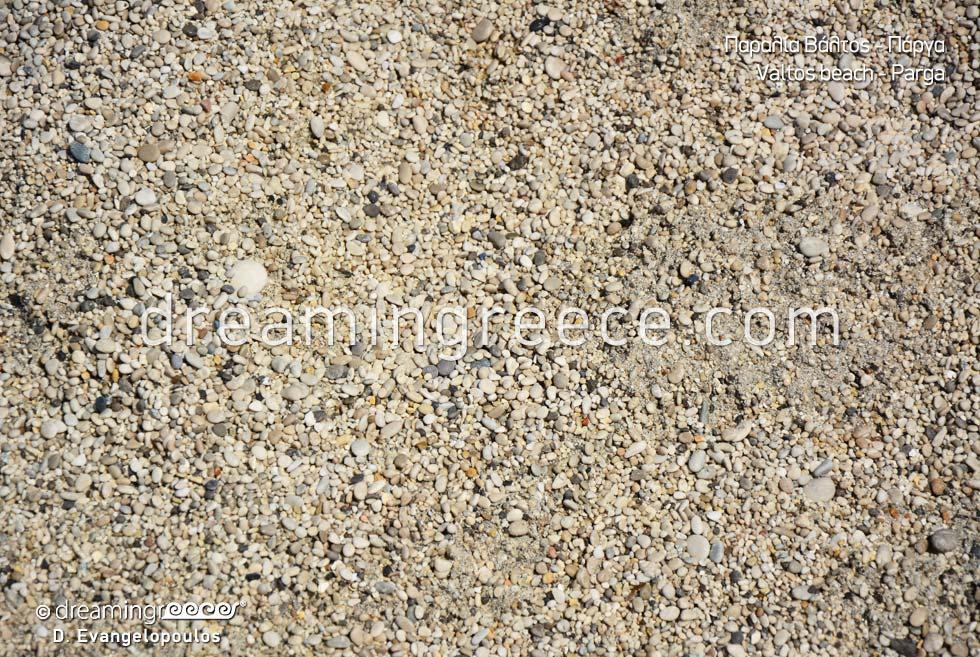 Valtos beach Sand in Parga Greece