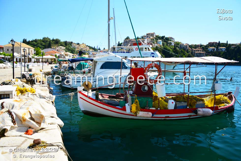 Fishing boat Sivota. Travel Guide of Greece