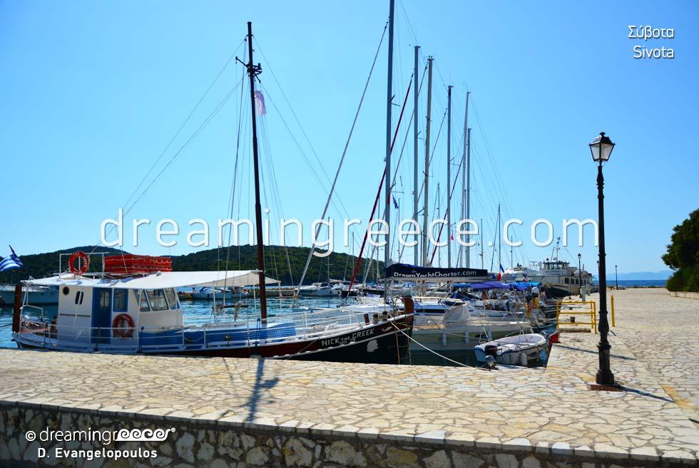 Port of Syvota. Holidays in Greece.