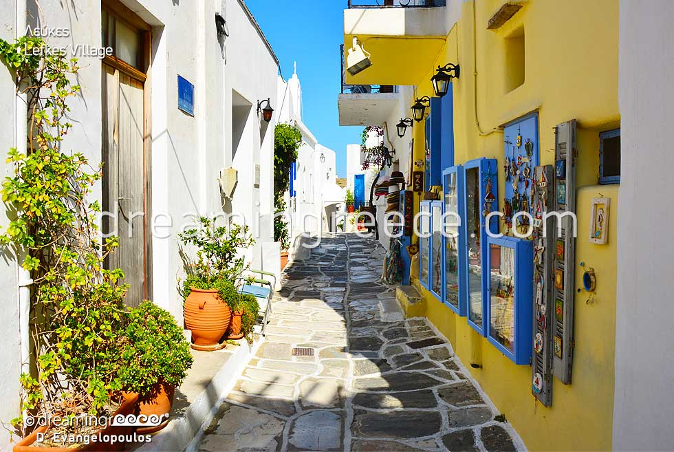 Lefkes Village. Summer vacations in Paros island