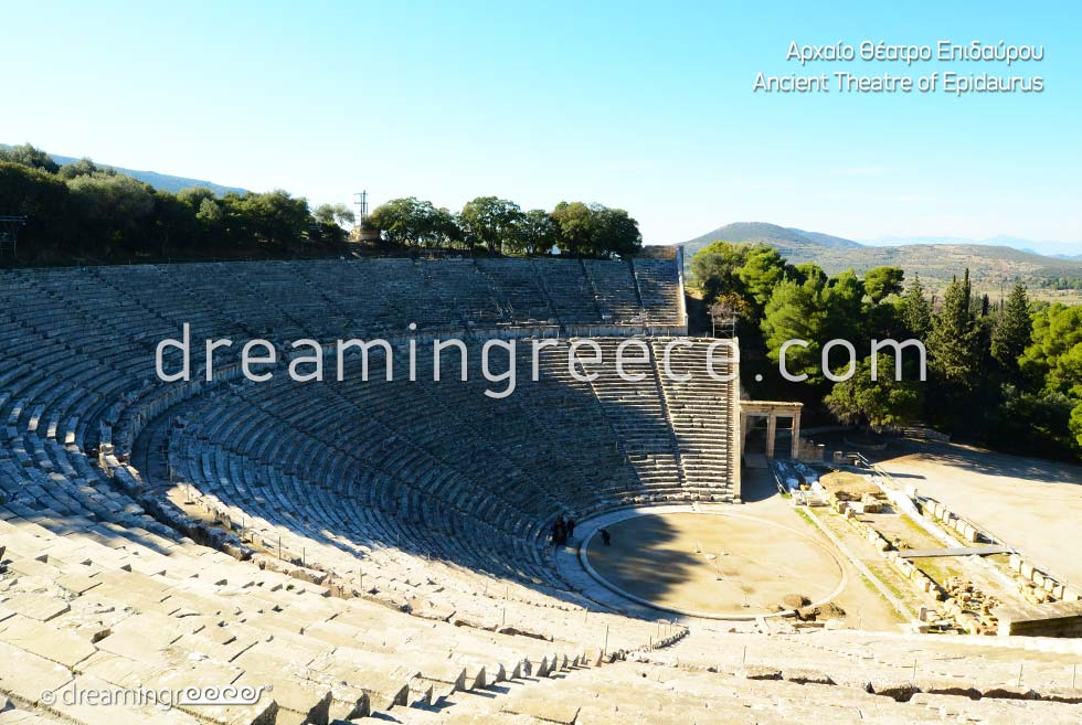 Ancient Theater of Epidavros Peloponnese Travel Guide of Greece