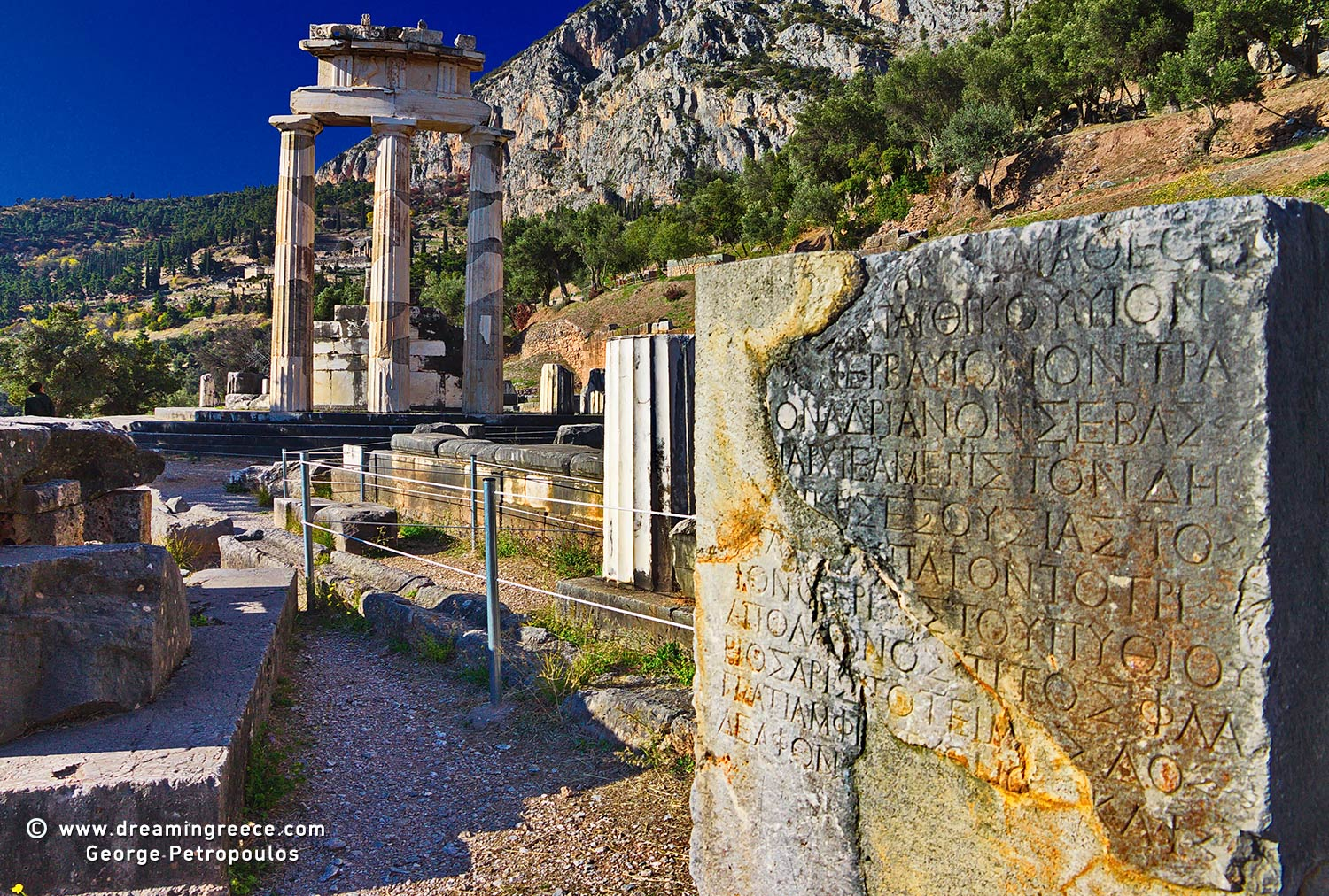 Archaeological Site of Delphi Greece. Vacations Greece.