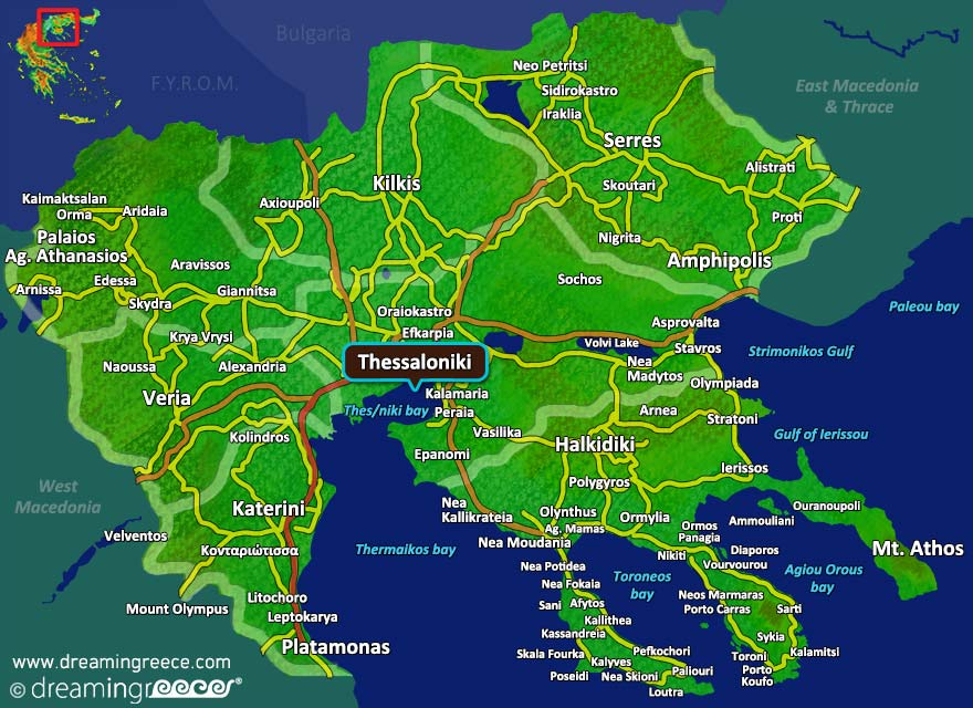 Thessaloniki Map Greece