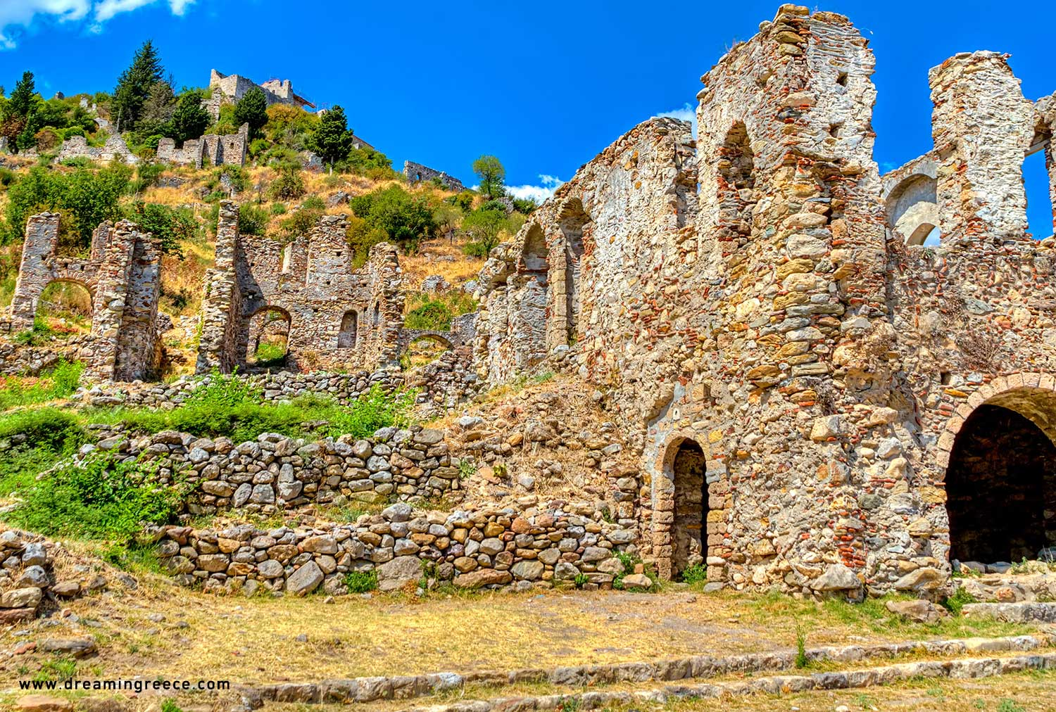 Mystras Holidays in the Peloponnese Greece. Vacations Greece.