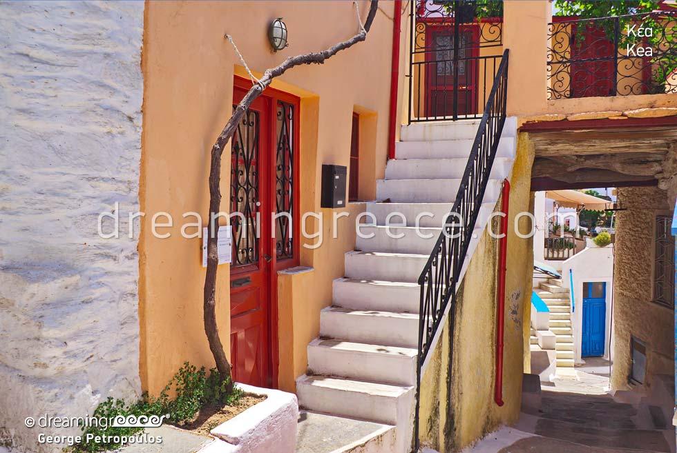 Kea Tzia island Cyclades. Summer Holidays in Greece
