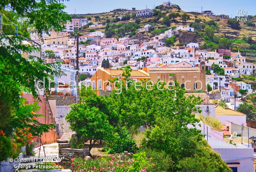 Kea Tzia island Cyclades. Summer Vacations in Greece