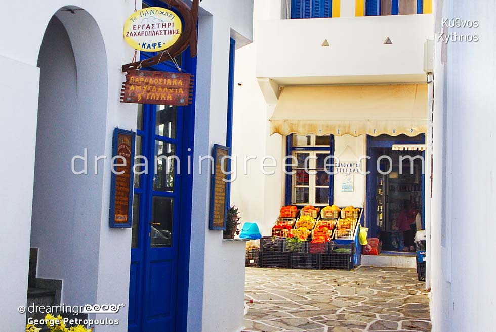 Kythnos island Cyclades islands . Travel Guide of Greece