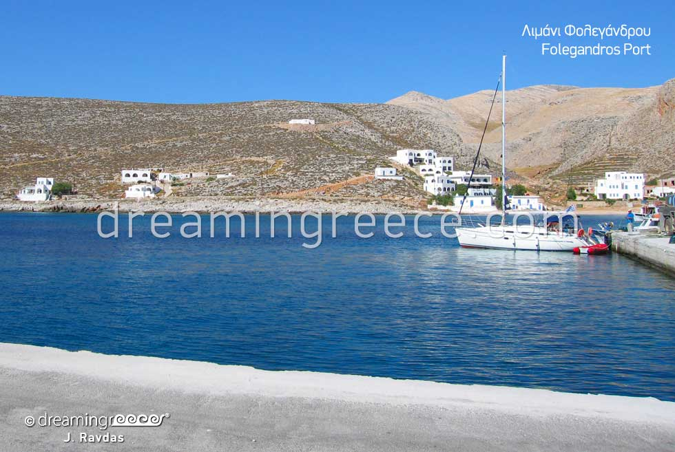 Folegandros port Greece