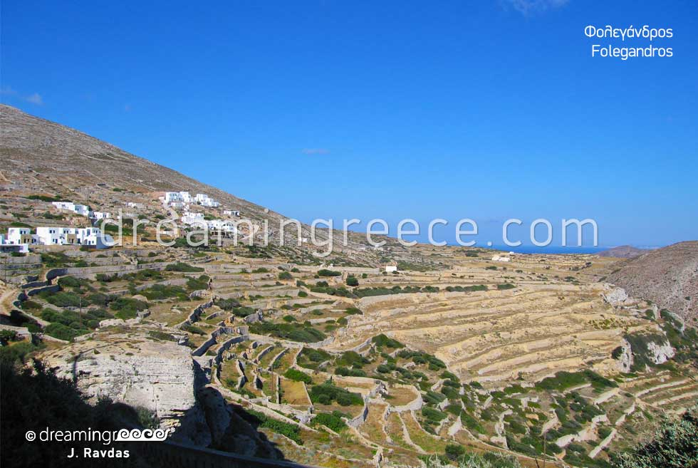 Folegandros island landscape. Travel Guide of Greece