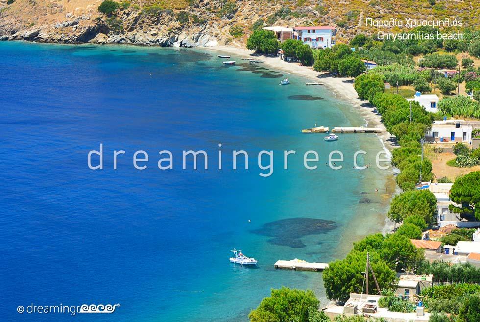 Chrysomilia beach in Fournoi of Ikaria island Greece
