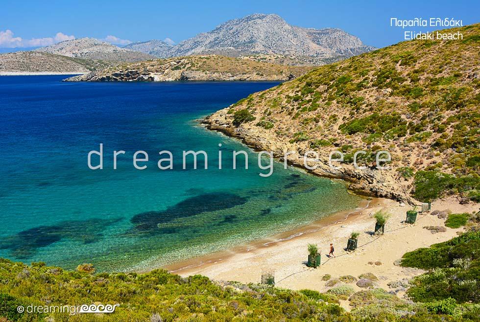 Elidaki beach Fournoi of Ikaria island