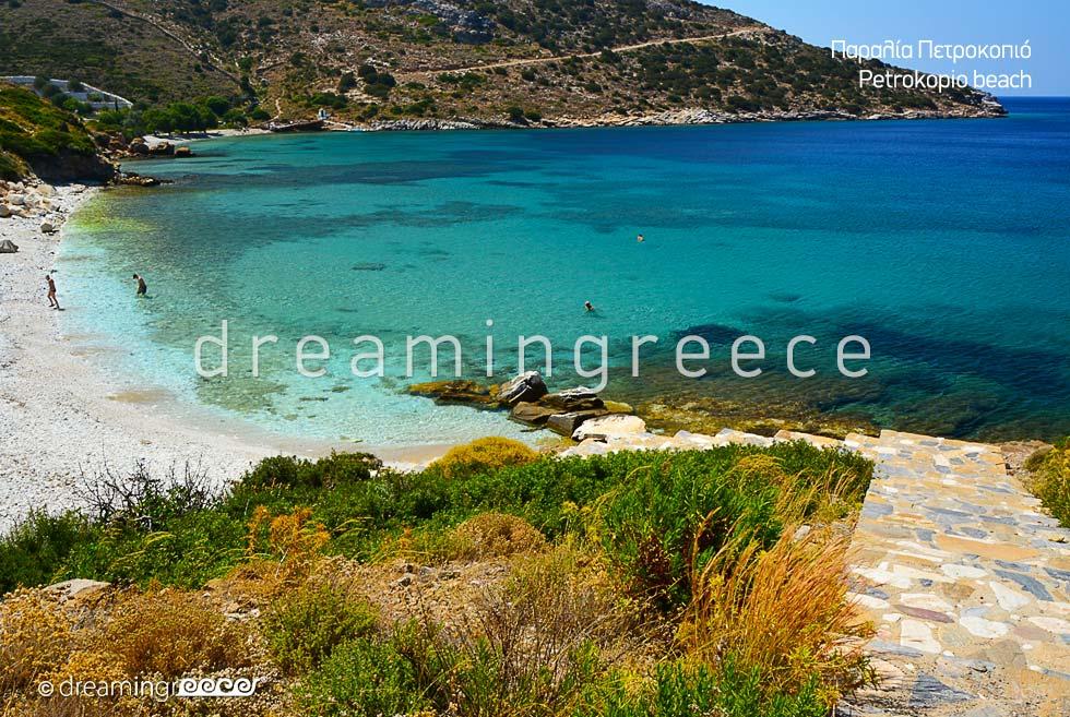Petrokopio beach Fournoi of Ikaria island