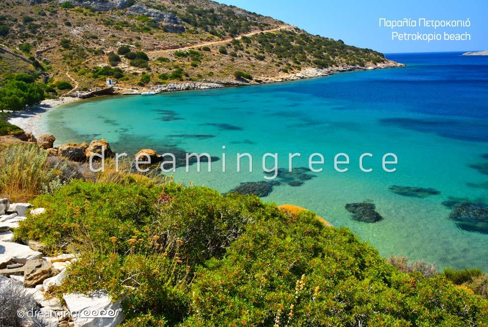 Petrokopio beach Fournoi of Ikaria island Beaches in Greece