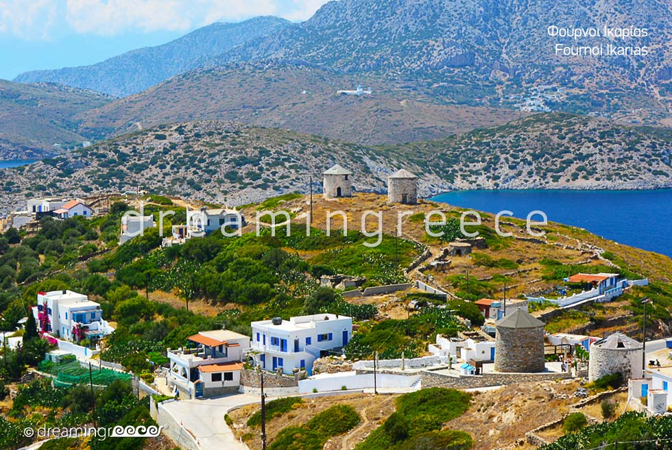 Holidays in Fournoi of Ikaria island Greece Travel. Greek islands.