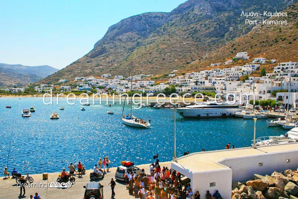 Kamares Port Sifnos island. Discover Greece