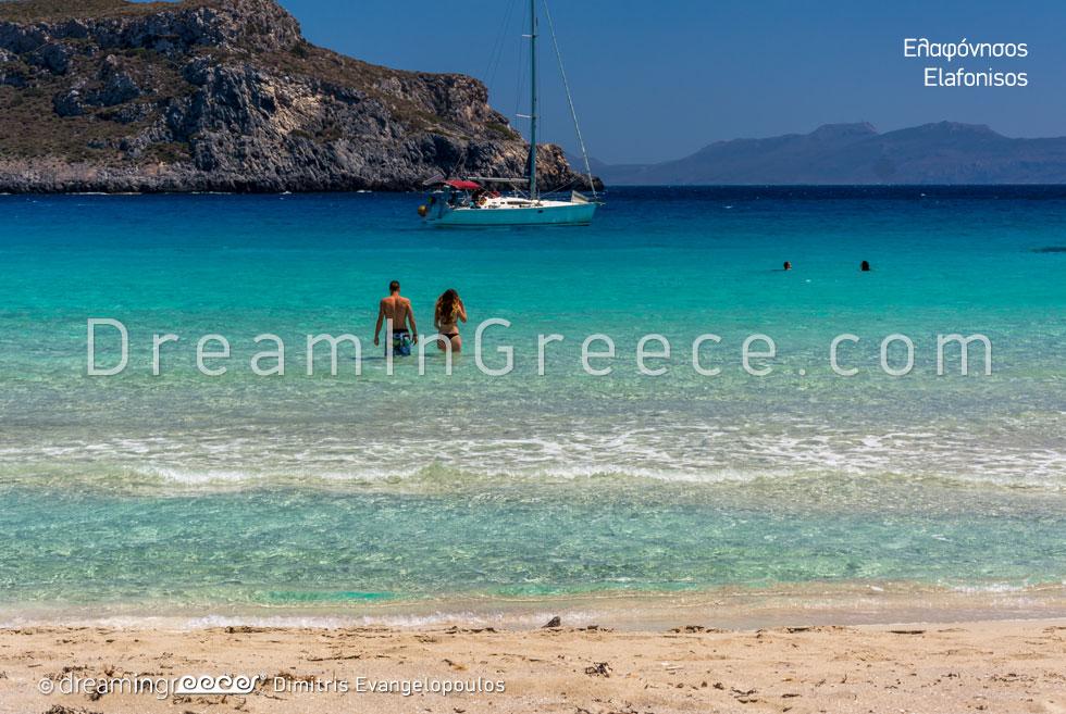 Elafonisos island Greece. Beaches in Greece.