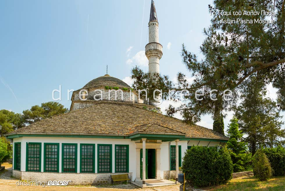 Aslan Pasha Mosque in Ioannina Epirus. discover Greece